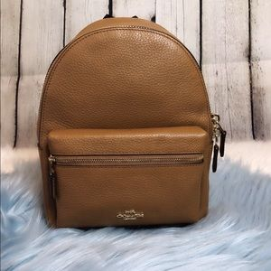 NWT Coach Mini Charlie Backpack in Light Saddle